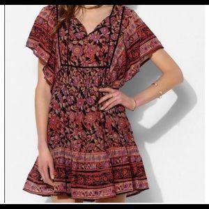 Urban Outfitters Ecoté Gauzy Flutter Dress S